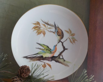 RARE...Vintage  Candsrea, Bird   Plate , Hand Painted, Made In Japan