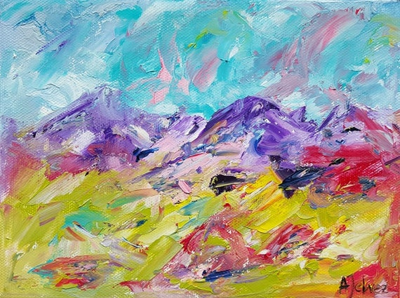 mountain art abstract mountains mountain wall art colorful art