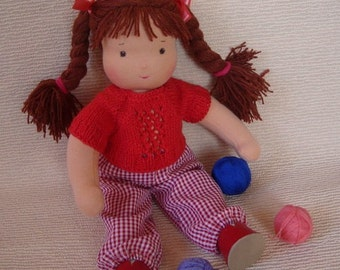 waldorf doll, fabric doll, textile doll, rag doll, soft doll, cloth doll