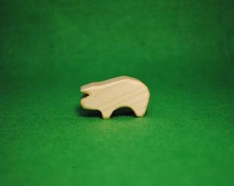 Wood pig - pig Statue - Waldorf Animals - farm wooden animals - Wood Figurine pig - pig Toy - Wooden pig - Wood pig Figure