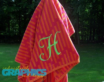 Personalized Beach towel EXTRA LARGE - Bridesmaid Gift - Monogrammed Beach Towel - Embroidered Beach Towel
