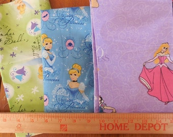 Destash- 3 Pieces Of Disney Quilter's Cotton Fabric For Quilting Or Crafting
