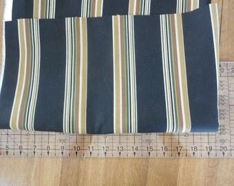 Destash- 1 Full Yard of Black Stripe Home Decor Upholstery Fabric Remnant
