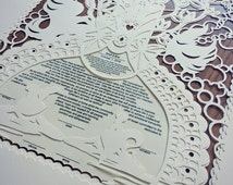 Ketubah Marriage Certificate Paper Cut by hand