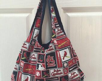 St Louis Cardinals small hobo bag