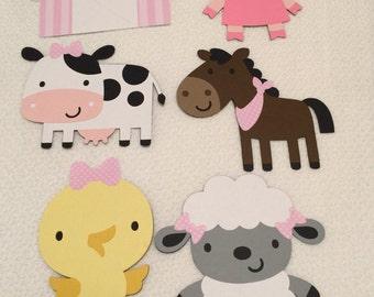 6pcs Farm Animal Centerpiece, Farm Birthday Party, Farm Party Decorations, Farm Centerpiece, Kids Farm Birthday, Farm Animals