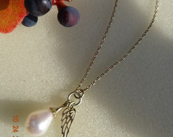 Gold chain 585 (14 K) * my Pearl and my Angel *.