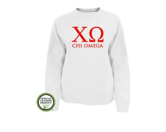 Chi Omega Comfort Colors Sweatshirt, Greek pullover, Greek gift, Sorority gift, Big and Little, Chi Omega, Chi-O