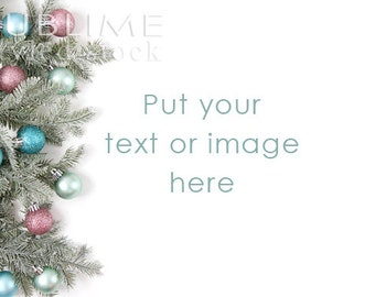 Christmas Styled Stock / Christmas Background / Christmas Mockup / Christmas Desktop / Christmas lights / Pine Branches / StockStyle-742