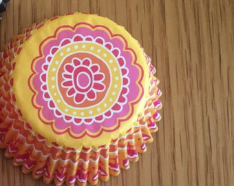 Sunny Flower cupcake liners - 50pcs