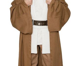Star Wars Obi-Wan Kenobi Jedi Replica Costume Body Tunic with Replica Light Brown Jedi Robe - JR 1437