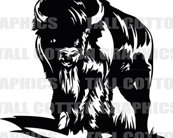 Bison - Buffalo  Vinyl Decal #WL045