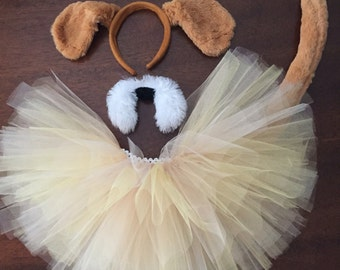Puppy Dog Tutu Costume. Halloween Costume School Book Day Adult and children's sizes