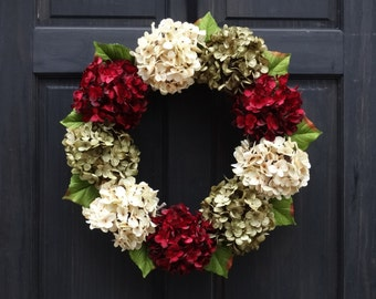 Modern Christmas Wreath for Front Door, Holiday Wreath, Front Door Wreath for Christmas, Holiday Door Decor, Christmas Decoration for Door