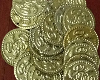 200 X Large Coins Belly Dance Costumes, hip Scarf Coins Gold,Silver.