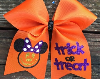 Halloween minnie bow