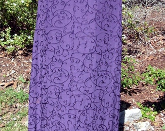Boho Chic PURPLE Dress, Long sleeveless MAXI, Vintage 90s Bohemian Hippie Gypsy, Festival, embroidered sundress, Stevie Nicks, amethyst, xs