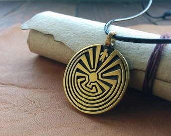 Man In The Maze Native  I'itoi I'ithi Pendant Necklace