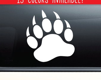 Bear Paw Claw Vinyl Decal Laptop Car Truck Bumper Window Sticker