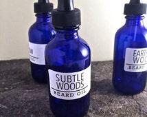 Beard Oil - SUBTLE WOODS - Vetiver, Cedarwood, Amyris, Lime essential oils