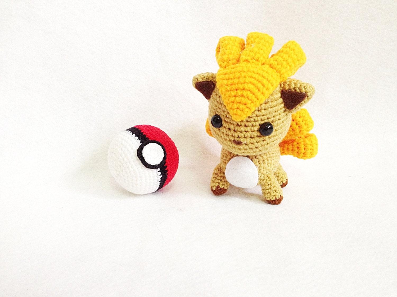 Amigurumi Vulpix Pattern : Vulpix Pokemon Amigurumi Nursery decor Pokemon by ...