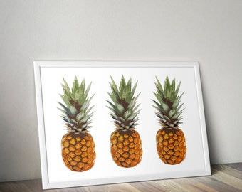 Pineapple print, poster, wall art