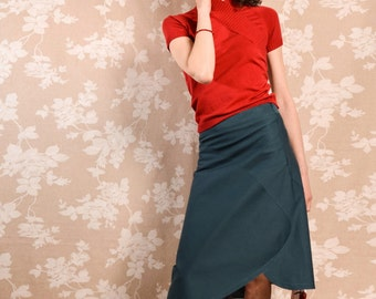 Skirt BIO-Aponi: Organic Cotton, petrol