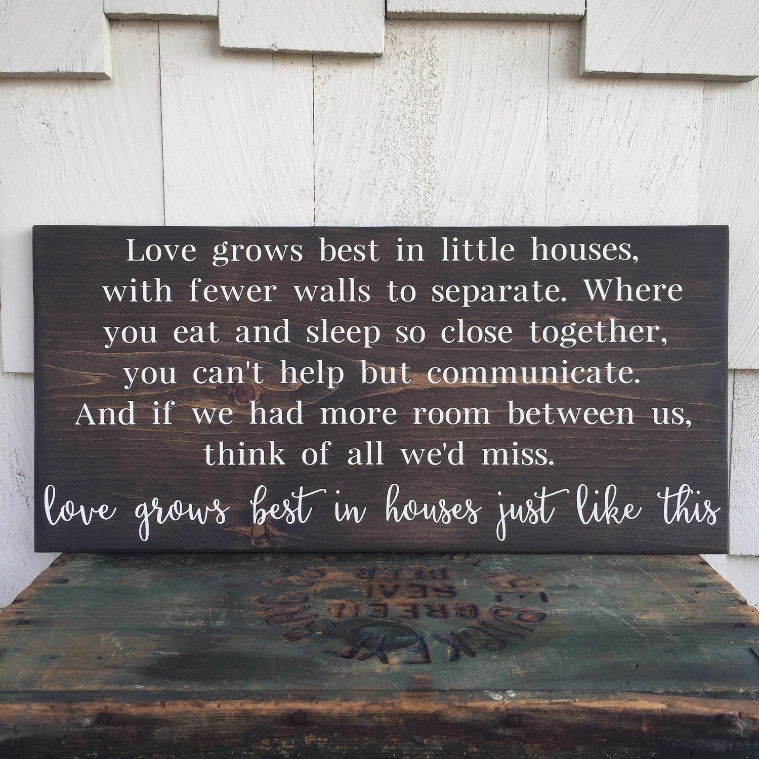 Download Love Grows Best in Little Houses Wood Sign Houses Just Like