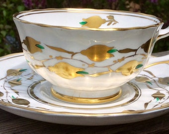 Bling- Stunning Royal Chelsea Teacup and Saucer No. 3483 A/G