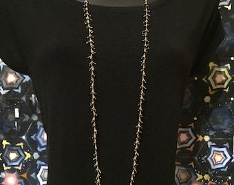 Black Spinel Gold Necklace