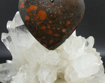 Blood Jasper Heart Pendant.