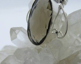 Smokey Quartz Sterling Silver Pendant.