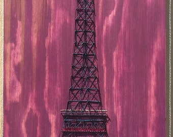 Rose Eiffel Tower String Art Decor