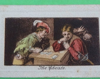 Vintage Cigarette Card De Reske Cigarettes by J. Millhoff & Co Art Treasures The Cheats 1927