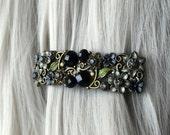 Halloween Jeweled Hair Accessories for Women or Black Gothic Wedding Hair Clip -  Victorian Hair Accessory - Thin Hair Clip - Halloween