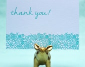 Letterpressed Thank You Cards - Succulents - Pack of Five