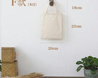 Custom printed tote canvas personalize LOGO black/ white / creamy white bag-xyhk21