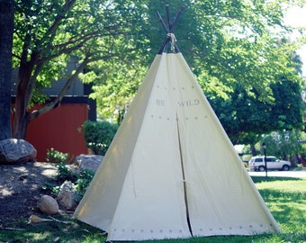 XL BE teepee, 8ft kids Teepee, beach tent, large tipi, Play tent, wigwam or playhouse with canvas