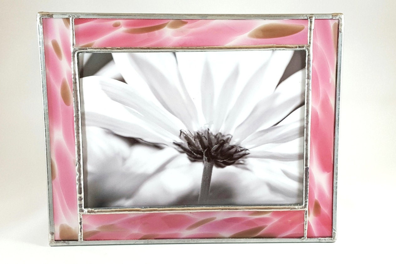 pink giraffe stained glass picture frame. Black Bedroom Furniture Sets. Home Design Ideas