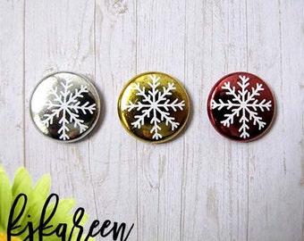 "Badge 1 ""- metallic snowflake"