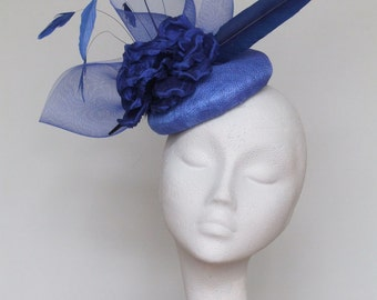 Royal Blue Fascinator Ascot Hat