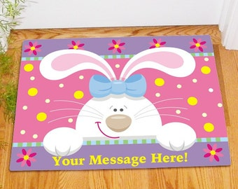 Easter Bunny Doormat With Custom Message