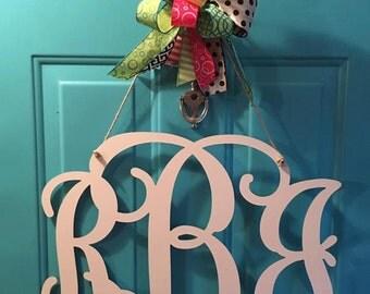 """22""""  3 Letter Monogram Door Hanger"""