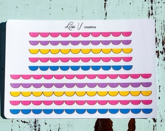Bright Scallop Bunting stickers for your planner or calendar!