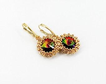 Christmas gift for mom gift for girlfriend gift for wife gift for sister gift Dangle earrings Drop earrings Dainty earrings Unusual earrings