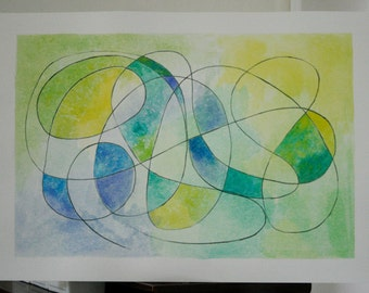 Original Abstract Drawing - Delicate - Modern Home Decor