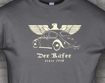 Bug classic beetle Tshirt Kafer airdooled muscle gray army t shirt S - 5XL