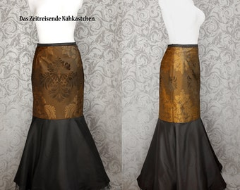 Fishtail skirt, mermaid skirt, brocade, gothic - made to measure