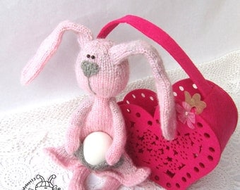 Bunny for Easter- knitting pattern (knitted round). Amigurumi Bunny