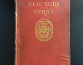 The Book of New York Verse, Hamilton Fish Armstrong, Illustrated, 1917, 1st Ed.